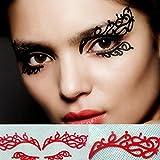 Eyelashes,Han Shi Women Girls Fashion Exaggerated Drama Stage Dressing Party Feathers False Eye lashes
