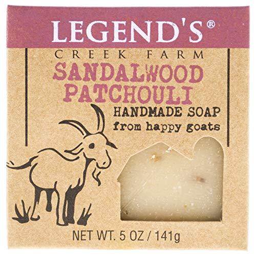 Sandalwood Patchouli Goat Milk Soap - 5 Oz Bar - Great For Sensitive Skin - Certified Cruelty Free (Olive Oil Goats Milk Soap)