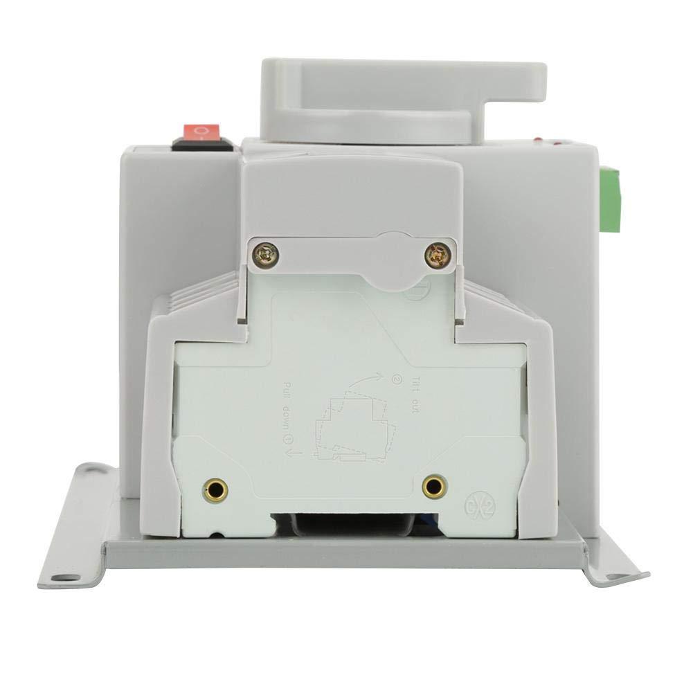Dual Power Automatic Transferschalter 4P 63A 220V Mini Intelligent Dual Electronic Power Sicherungsautomat Double Power Automatic Switch-Over-Schalter