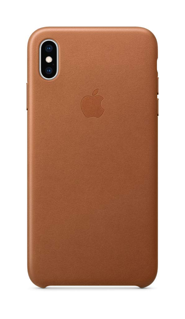 detailed look 1656f 88f0a Apple Leather Case (for iPhone Xs Max) - Saddle Brown