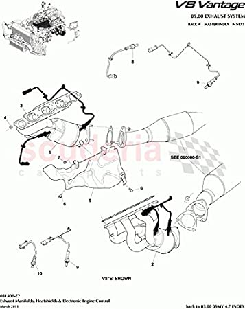 Aston 9G336714AA Martin Filtro de aceite original OEM para V8 Vantage