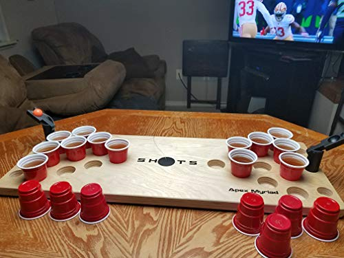Mini Beer Pong Game or Juice Pong Shots Drinking Games with Spare Bonus Pieces Classic Adults Party Sports Tailgating