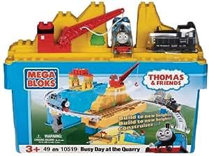 Mega Bloks - 10519U - Set de construcción  - Día Thomas ocupado en la cantera