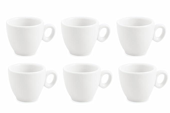 1 opinioni per Galileo Casa 2411284 Set 6 Tazzine, Porcellana, Bianco, 6 Unità