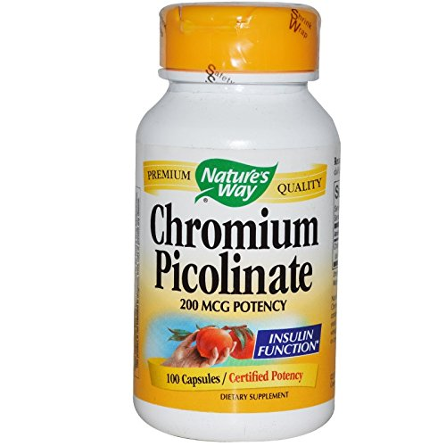 Nature's way chromium picolinate – 100 capsules, 100 Count For Sale
