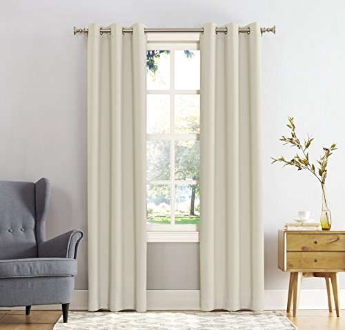 Sun Zero Easton Blackout Energy Efficient Grommet Curtain Pa
