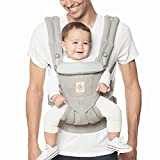 Ergobaby Omni 360 All-in-One Ergonomic Baby Carrier, All Carry Positions, Newborn to Toddler, Pearl Grey For Sale