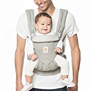 Ergobaby Omni 360 All-in-One Ergonomic Baby Carrier, All Carry Positions, Newborn to Toddler, Pearl Grey