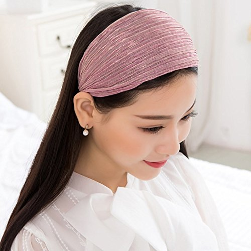Amazon.com  usongs Card Yan wide-brimmed cloth hair bands headband hair  headband hair band fabric cover slip toothed women girls card issuers   Sports   ... b57dd552239