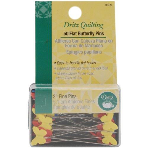 Dritz 3069 Decorative Flat Head Pins, 2-Inch (50-Count)