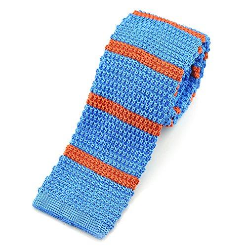 "PenSee Casual & Orange pour homme Bleu à rayures en tricot fin-Skinny - 2.16 ""ACCOUPLEMENT"