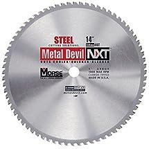 "M.K. Morse CSM1466NSC 1800 rpm, 66 Teeth Metal Devil NXT Circular Saw Blades with 1"" Arbor, 14"""