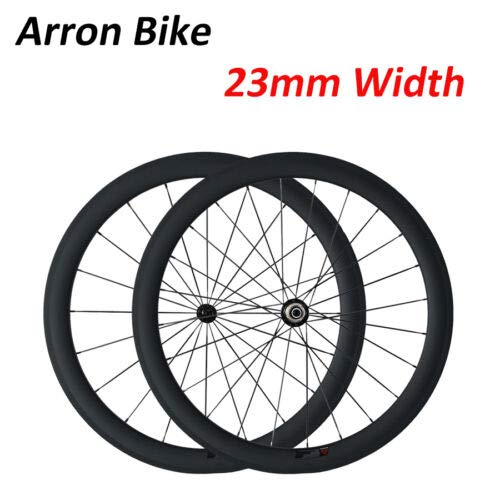 Road Bike Wheels 50mm Depth Clincher Profile Carbon Wheels Lightweight Wheelset