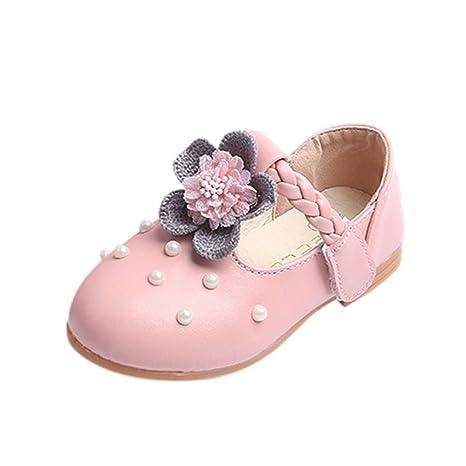 Amazon.com: Hemlock poco de niña sandalias zapatos perla ...
