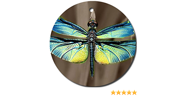 MYDply Dragonfly Blue Ornament Round Porcelain Christmas Great Gift Idea