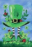 st patricks outdoor flags - Morigins Decorative Patrick Saint Pat Clover Green Double Sided House Flag 28