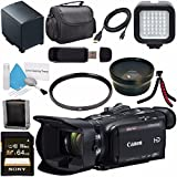 Canon VIXIA HF G40 Full HD Camcorder 1005C002 + BP-820 Lithium Ion Battery Pack + Sony 64GB SDXC Card + 58mm UV Filter + 58mm Wide Angle Lens + LED Light Bundle