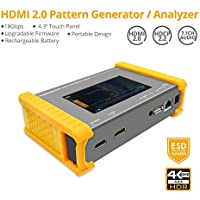 """gofanco Prophecy 4K 60HZ YUV 4:4:4 HDMI 2.0 Pattern Generator & Analyzer – 4.3"""" Touch Panel, Battery Powered, HDR, HDMI 2.0a, HDCP 2.2, EDID Testing, 18Gbps, Firmware Upgradeable (PRO-HDMI2Gen)"""