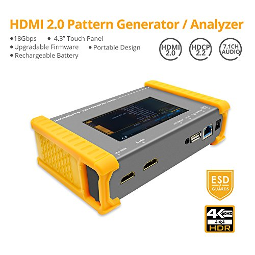 "Hdmi Pattern - gofanco Prophecy 4K 60HZ YUV 4:4:4 HDMI 2.0 Pattern Generator & Analyzer – 4.3"" Touch Panel, Battery Powered, HDR, HDMI 2.0a, HDCP 2.2, EDID Testing, 18Gbps, Firmware Upgradeable (PRO-HDMI2Gen)"