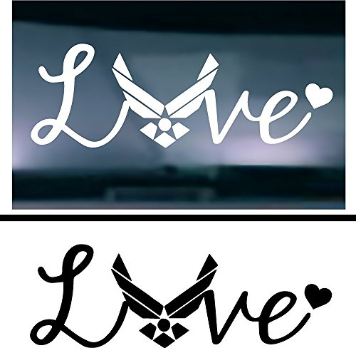 Cheap price ( ) TWO Love Air Force Decal Sticker Vehicle Car Truck Window Wall Laptop Outdoor