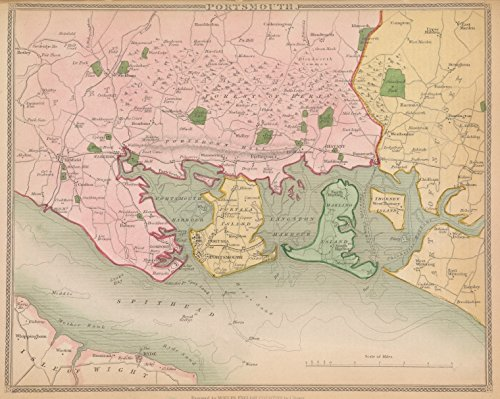 1839 Map (Historic 1839 Map | Portsmouth | Great Britain | Portsmouth (England)A topographical description of England |)