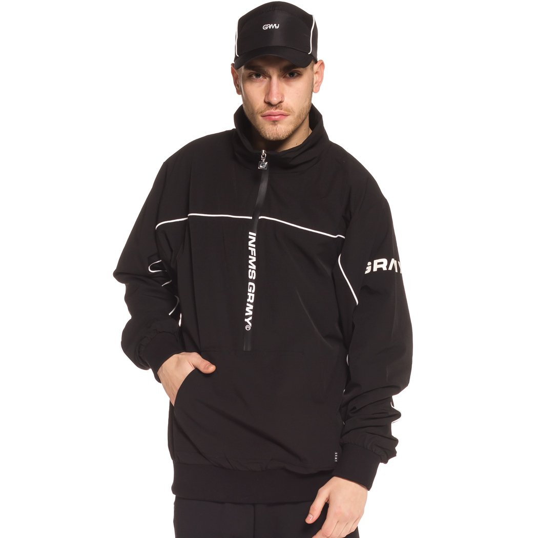 Grimey Chaqueta COUNTERBLOW Pull Over Jacket SS18 Black