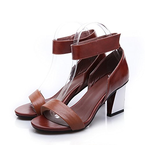 Sandals Colors Platform Ankle Cuff Camel Unique Leather 1TO9 Cow Assorted Brown Ladies tOXwqgOnHv