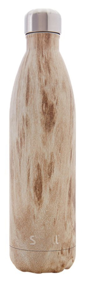 S'well Vacuum Insulated Stainless Steel Water Bottle, 17 oz, Blonde Wood