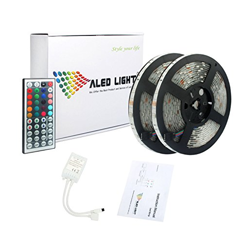 LED Light Strip , ALED LIGHT 5050 10M 300Leds (25M) RGB Waterproof Dream Magic Color LED Strip Light Kit(44 key IR Remote + Reciever + Product Manual)For Home, Garden, Boat, Club, Bar, KTV Club, Show Room, Architectural Decorative Led Rope Light