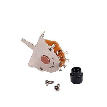 Homyl Interruptor de Pastilla 3 Way Lever Pickup Selector Switch para Guitarra Eléctrica Bajo: Amazon.es: Instrumentos musicales