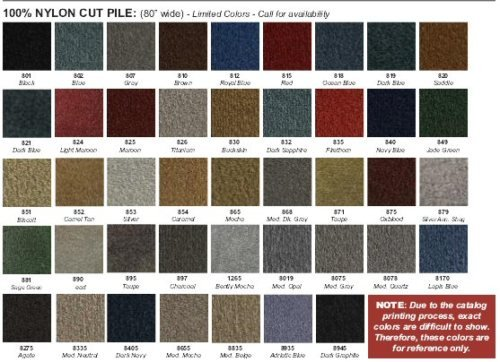 The Parts Place Chevrolet Nova / Chevy II - Cut Pile Molded Carpet Set - Many Colors Available