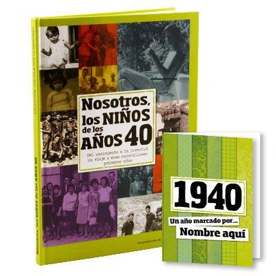 Calledelregalo Libro de tu año de Nacimiento, Libro de la década de los 40 con Tarjeta Personalizada - Regalo para cumpleaños - Otras Edades ...