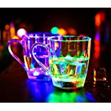 X&L Water-induced light cups colorful LED cups men and women induction cold light cup bar home nightclub (battery purchased by the buyer)
