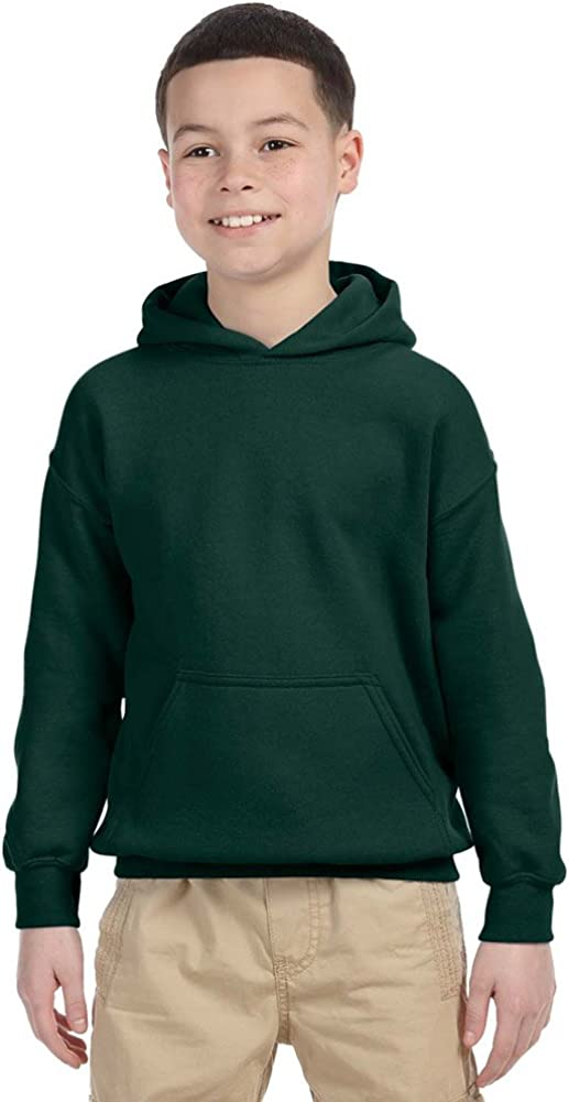 Gildan Heavy Blend Youth 8 oz 50//50 Hood Forest Green XS