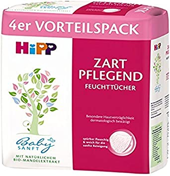 HiPP Babysanft Feucht-T/ücher Zart Pflegende 3er Pack 3x4x56 T/ücher