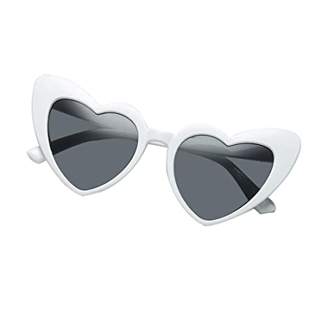 beadc1cac2e9 FOONEE Heart Shaped Sunglasses Fashion Sunglasses for Women Heart Shaped  Cateye Womens Sunglasses(Red, Black, White, Pink, Yellow, Wine Red):  Amazon.co.uk: ...