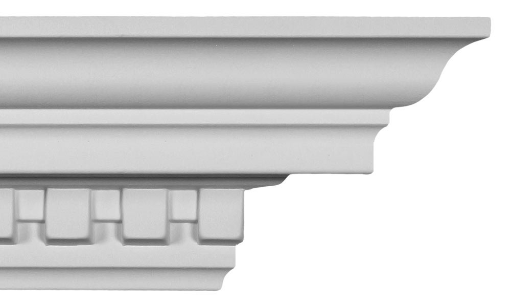 Crown Molding - Plastic Crown Moulding Manufactured with a Dense Architectural Polyurethane Compound. CM-1098 (6)