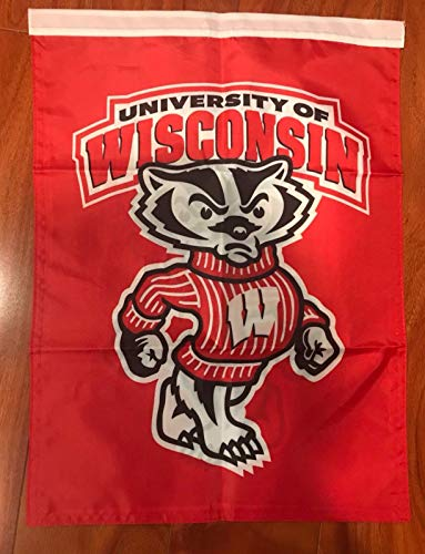 - University Of Wisconsin Badgers Two Sided 14 X 18 Inch Garden Flag