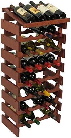 Wooden Mallet 32 Bottle Dakota Display Top Wine Rack