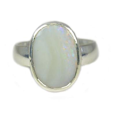 55Carat 5 CT Natural Gemstone Opal 925 Sterling Silver Ring For Men & Women bDhvMK8G