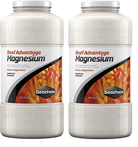 (2 Pack) Seachem Reef Advantage Magnesium, 1.2 kg / 2.6 lbs