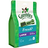 Greenies Large Dental Dog Treats, Fresh Flavor, 12 Oz. Pack (8 Treats), Makes A Great Holiday Dog Stocking Stuffer