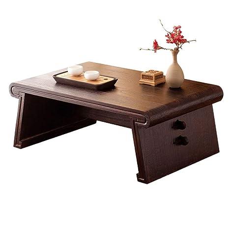 Amazon Com Mys Coffee Table Solid Wood Japanese Rectangular