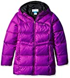 Columbia Girls Glam Her Long Down Jacket, Bright Plum-Black, Small