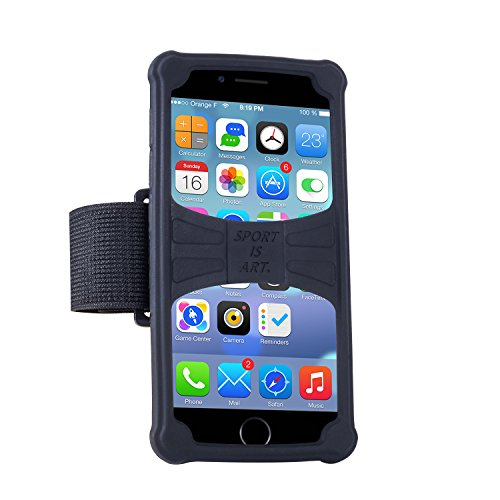Walless Cell Phone Armband Night Running Well-Rounded Protection Holder for iphone 6/6S/7/7 plus Samsung Galaxy S7 edge and other Smartphones(Black 5.5-6.0)