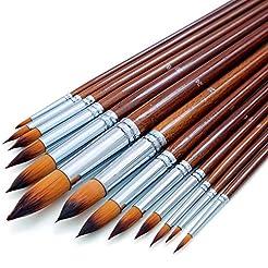 Artist Watercolor Paint Brushes Set 13pc...