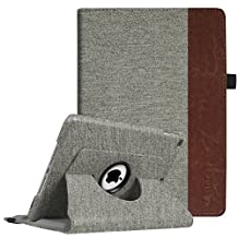 Fintie New iPad 9.7 inch 2017 / iPad Air Case - 360 Degree Rotating Stand Cover with Auto Sleep Wake for Apple New iPad 9.7 inch 2017 Tablet / iPad Air 2013 Model, Denim Grey
