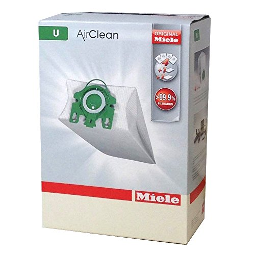 Miele Type U AirClean Bags & Filters, For S7000-S7999 UprightUpright, 4 Pack