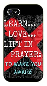iPhone 5 / 5s Bible Verse - Learn, love, lift in prayer: To make you aware - black plastic case / Verses, Inspirational and Motivational