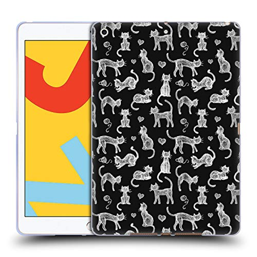 Official Micklyn Le Feuvre Teachers Pet Chalkboard Cats Animals Soft Gel Case Compatible for iPad 10.2 (2019)